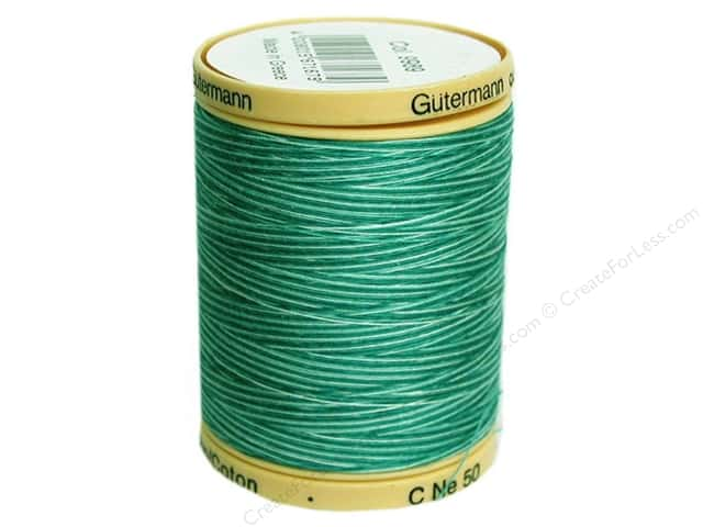 Gutermann 100% Natural Cotton Sewing Thread 875 yd. #9989 Variegated Bahama Ocean