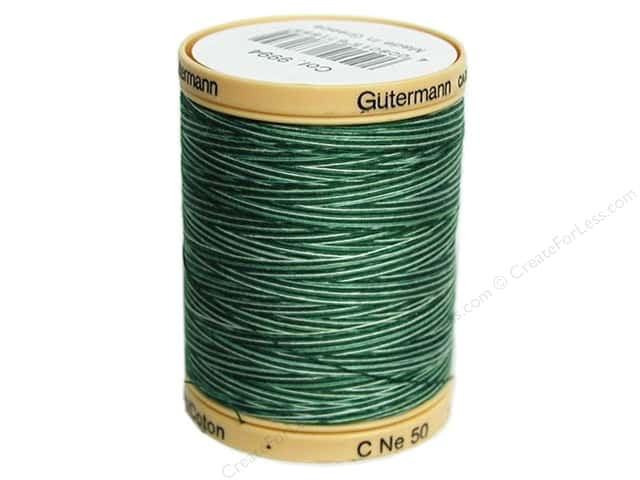 Gutermann 100% Natural Cotton Sewing Thread 875 yd. #9994 Variegated Foliage Green