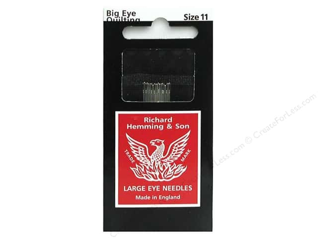 Hemming Needle Big Eye Quilting Size 11 12pc