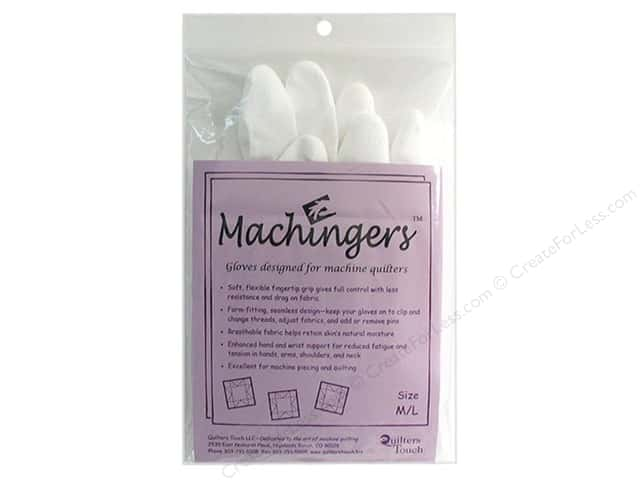 Quilters Touch Machingers Gloves Medium/Large