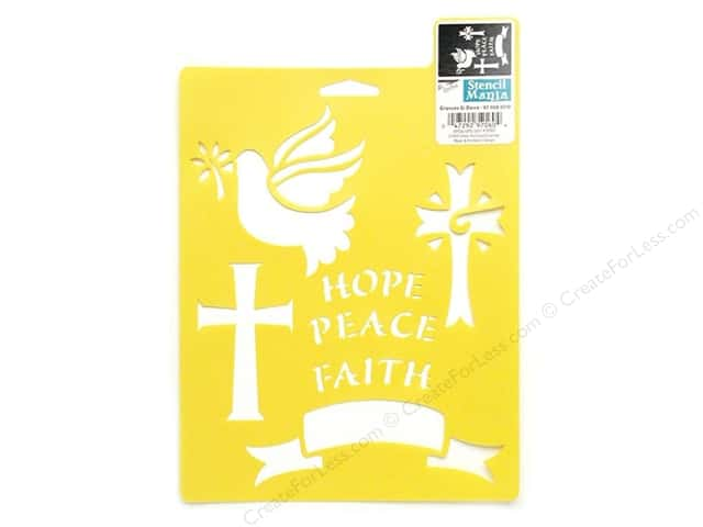 Delta Stencil Mania 7 x 10 in. Crosses & Dove