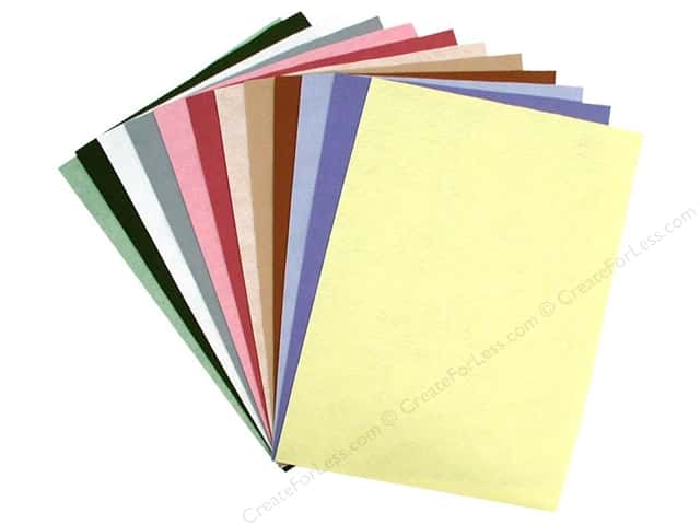 National Nonwovens WoolFelt 12 x 18 in. 35% Spring Collection (10 sheets)