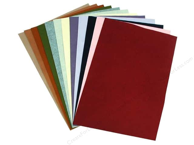 National Nonwovens WoolFelt 12 x 18 in. 20%/35% Trendy Accents (10 sheets)