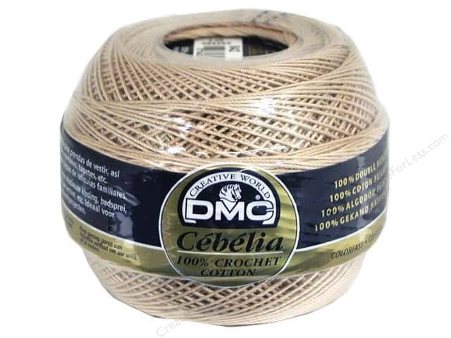 DMC Cebelia Crochet Cotton Size 10 #842 Coffee Cream