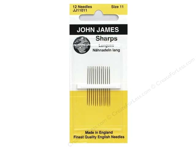 John James Sharps Sewing Needles Size 11 12 pc.