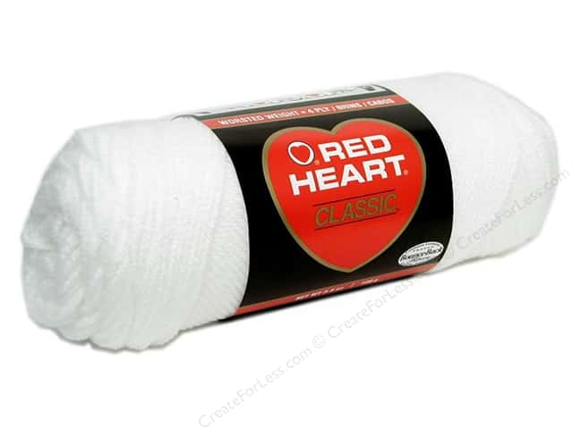 Red Heart Classic Yarn #1 White 190 yd.