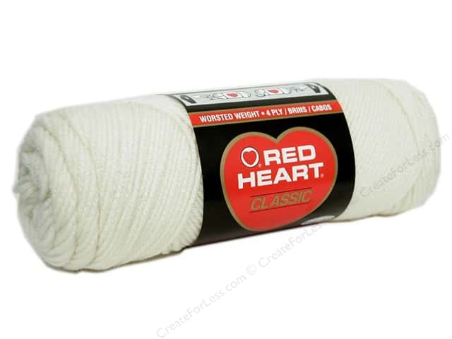Red Heart Classic Yarn #3 Off White 190 yd.