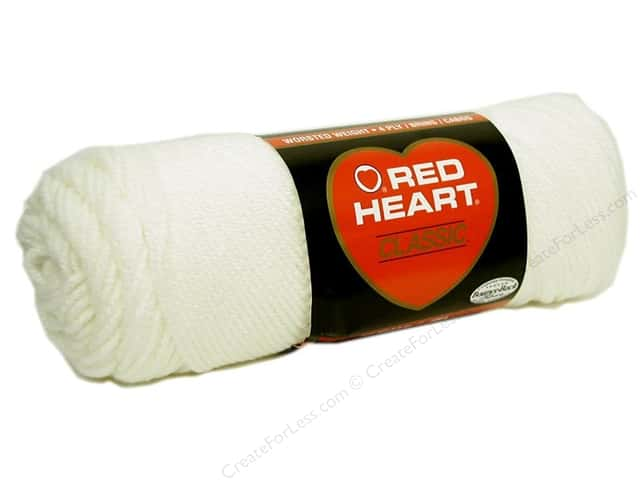 Red Heart Classic Yarn 190 yd. #111 Eggshell