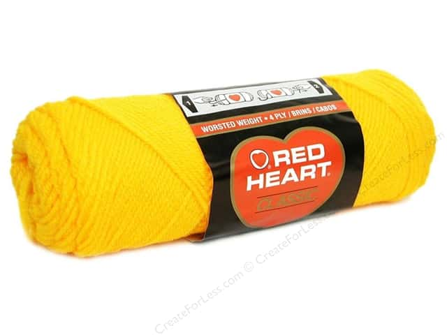 Red Heart Classic Yarn #230 Yellow 190 yd.