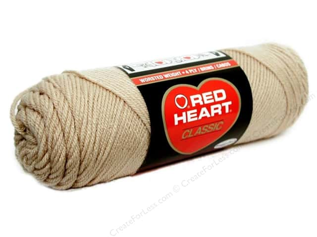 Red Heart Classic Yarn #334 Tan 190 yd.