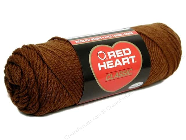 Red Heart Classic Yarn #339  Medium Brown 190 yd.