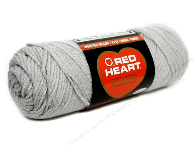Red Heart Classic Yarn #412 Silver 190 yd.