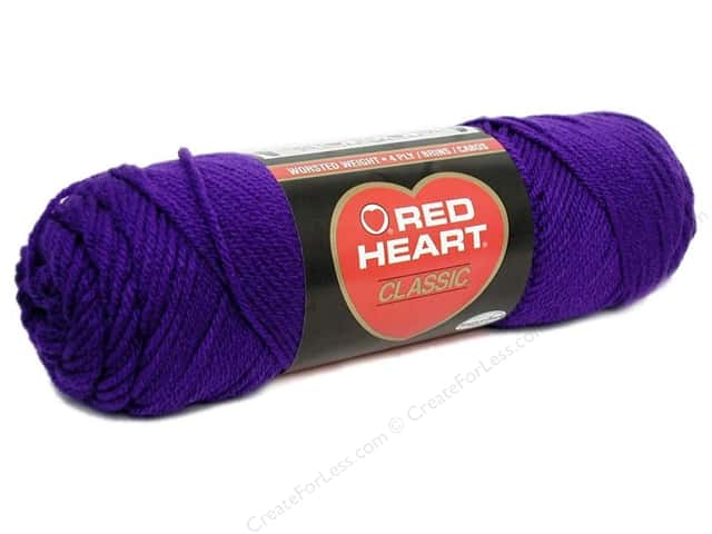 Red Heart Classic Yarn #588 Amethyst 190 yd.