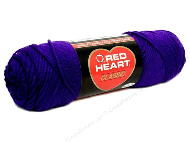 Red Heart Classic Yarn #596 Purple 190 yd.