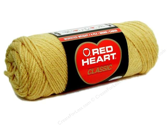 Red Heart Classic Yarn #645 Honey Gold 190 yd.