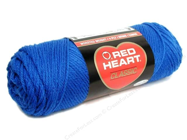Red Heart Classic Yarn 190 yd. #848 Skipper Blue