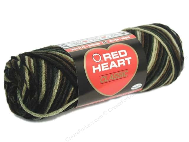 Red Heart Classic Yarn #971 Camouflage 146 yd.