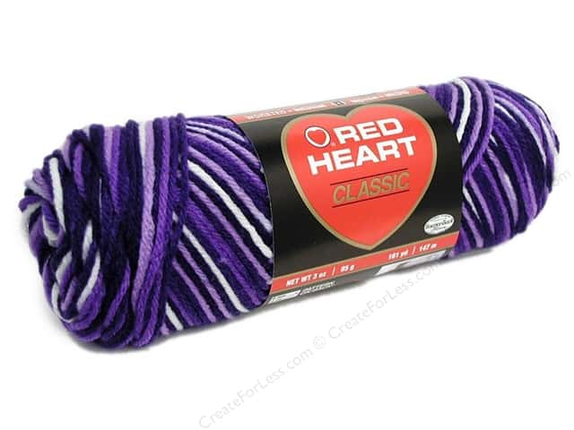 Red Heart Classic Yarn #985 Purples 146 yd.