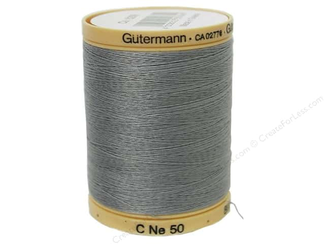 Gutermann 100% Natural Cotton Sewing Thread 875 yd. #6206 Grey