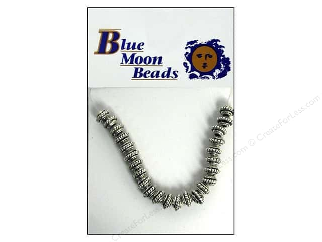 Blue Moon Beads Metal Spacer Beads 24 pc. Silver Roundel