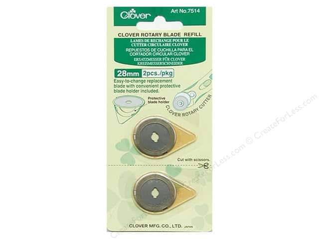 Clover Rotary Cutter Blade Refill 28 mm 2 pc.