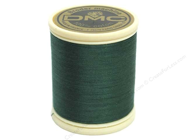 DMC Cotton Machine Embroidery Thread 50 wt. 547 yd. #501 Dark Blue Green