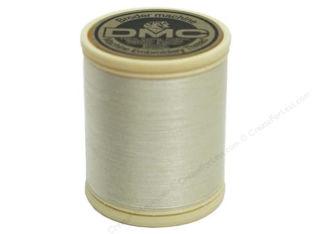 DMC Cotton Machine Embroidery Thread 50 wt. 547 yd. #712 Cream