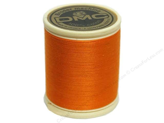 DMC Cotton Machine Embroidery Thread 50 wt. 547 yd. #740 Tangerine