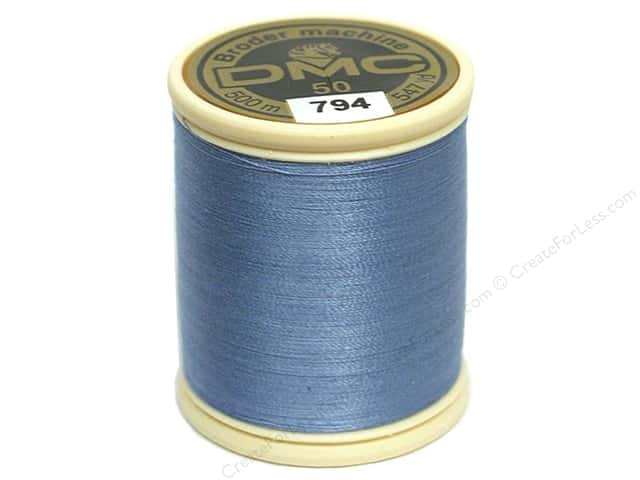 DMC Cotton Machine Embroidery Thread 50 wt. 547 yd. #794 Light Cornflower Blue