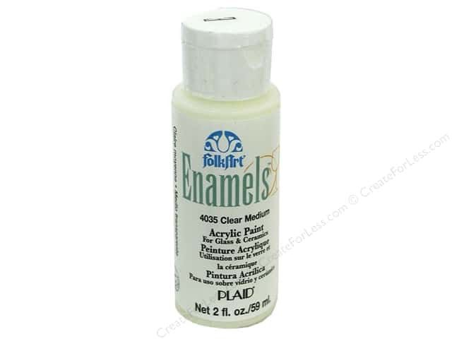 Plaid FolkArt Enamels Paint 2 oz. #4035 Clear Medium
