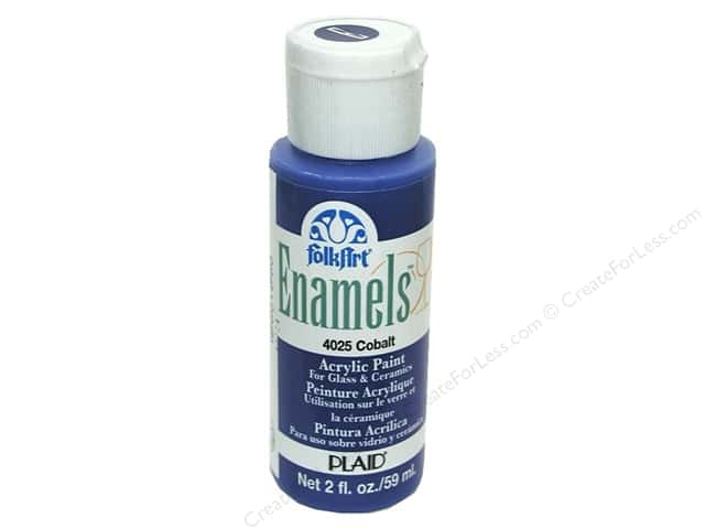 Plaid FolkArt Enamels Paint 2 oz. #4025 Cobalt
