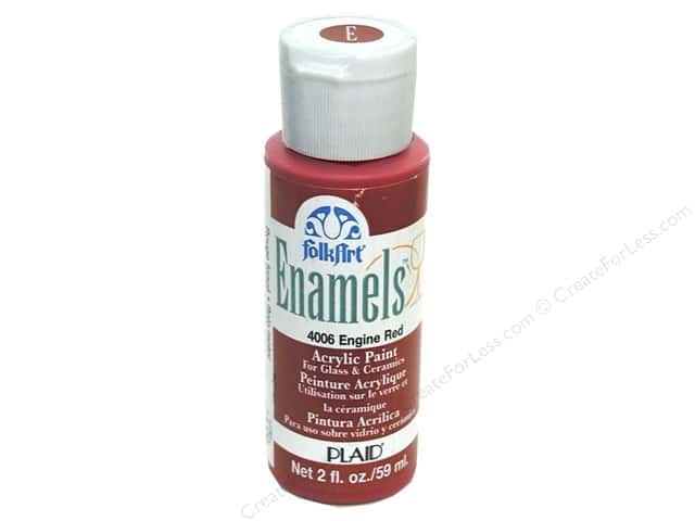 Plaid FolkArt Enamels Paint 2 oz. #4006 Engine Red