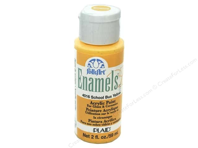 Plaid FolkArt Enamels Paint 2 oz. #4016 School Bus Yellow