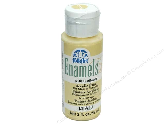 Plaid FolkArt Enamels Paint 2 oz. #4018 Sunflower