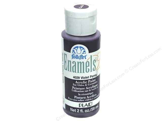 Plaid FolkArt Enamels Paint 2 oz. #4029 Violet Pansy