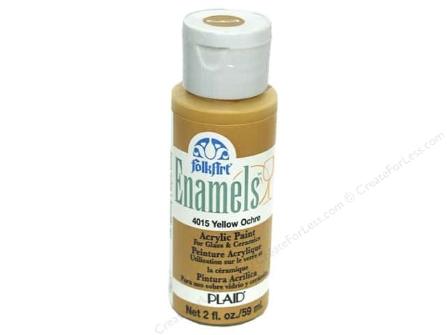 Plaid FolkArt Enamels Paint 2 oz. #4015 Yellow Ochre
