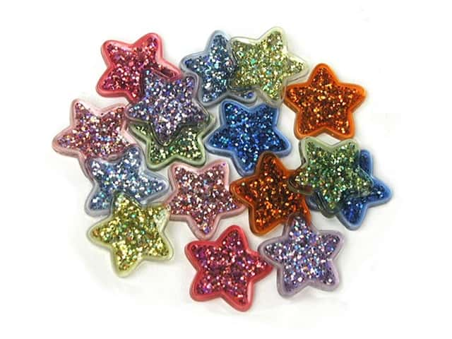 Jesse James Dress It Up Embellishments Button Fun Glitter Stars