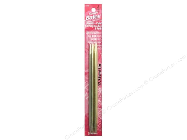 Susan Bates Double Pointed Knitting Needles 7 in. Size 10 (6 mm) 5 pc.
