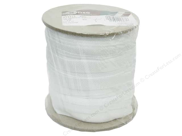 "Conso Polyester Twill Tape 1/2"" White (144 yards)"