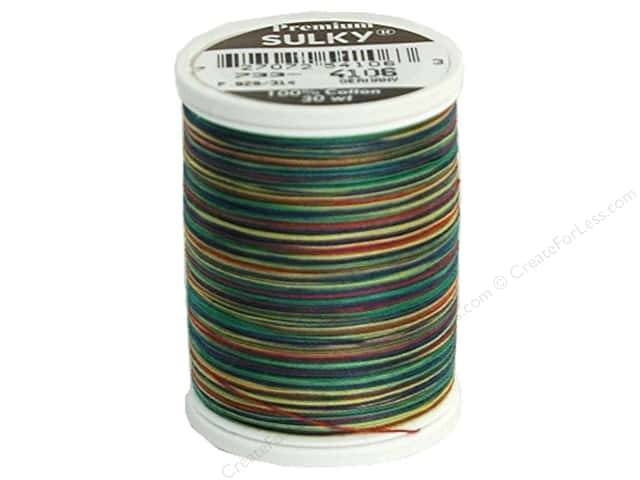 Sulky Blendables Cotton Thread 30 wt. 500 yd. #4106 Primaries