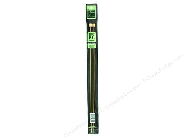 Clover Bamboo Needle Single Point 13 in. Size 1