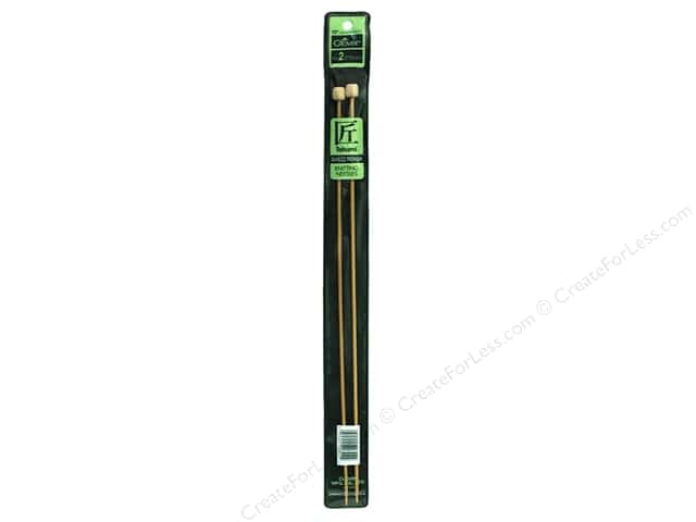 Clover Bamboo Needle Single Point 13 in. Size 2