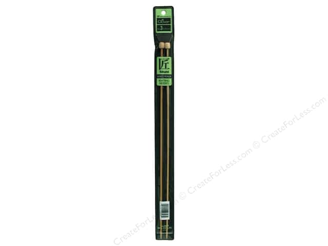 Clover Bamboo Needle Single Point 13 in. Size 3