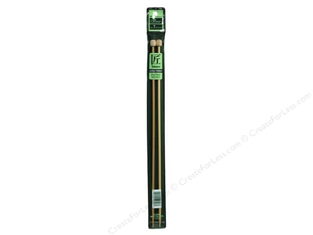 Clover Bamboo Needle Single Point 13 in. Size 7