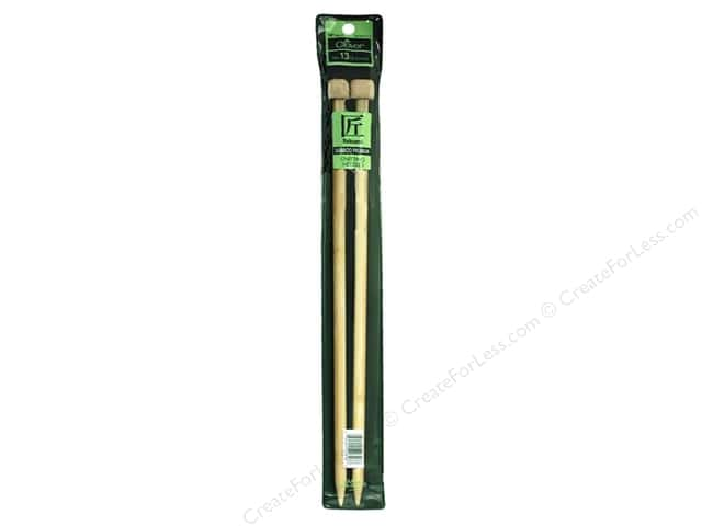 Clover Bamboo Needle Single Point 14 in. Size 13