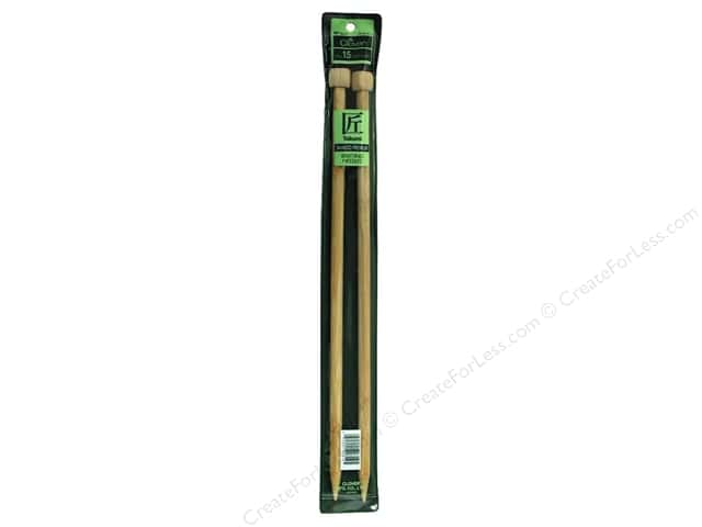 Clover Bamboo Needle Single Point 14 in. Size 15