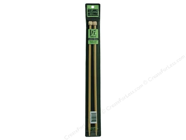 Clover Bamboo Needle Single Point 13 in. Size 10 1/2