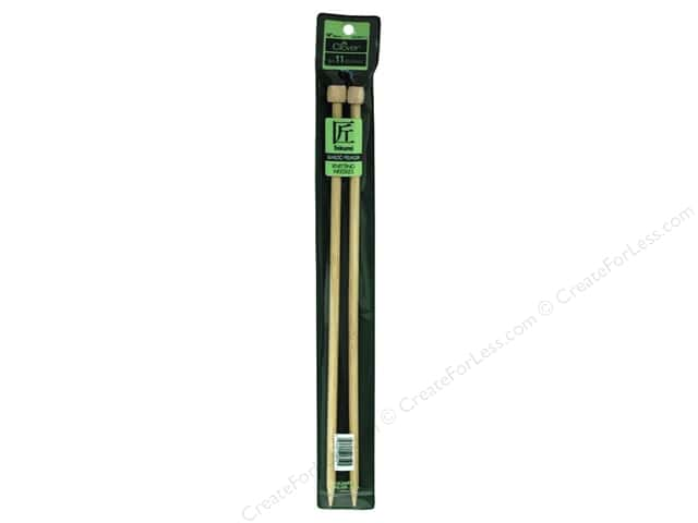 Clover Bamboo Needle Single Point 14 in. Size 11