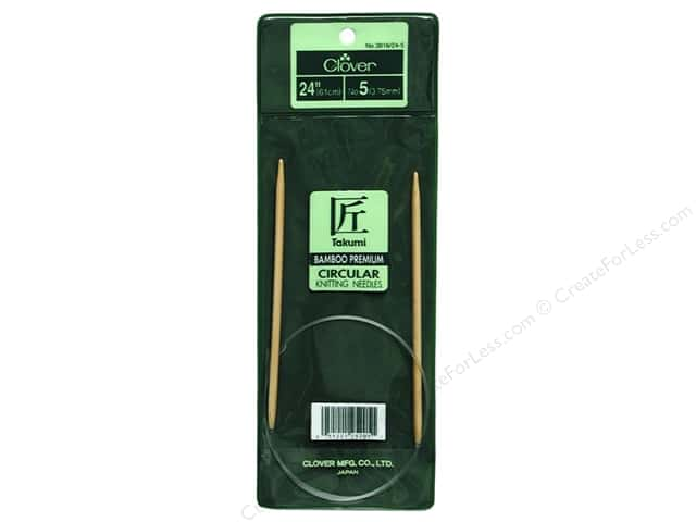Clover Bamboo Circular Knitting Needles 24 in. Size 5 (3.75 mm)