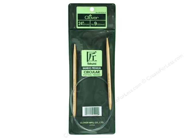 Clover Bamboo Circular Knitting Needles 24 in. Size 9 (5.5 mm)